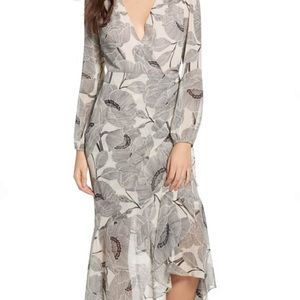 ASTR the label beautiful faux wrap floral dress